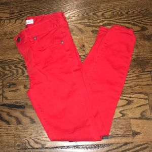 LOFT Red Skinny Legging